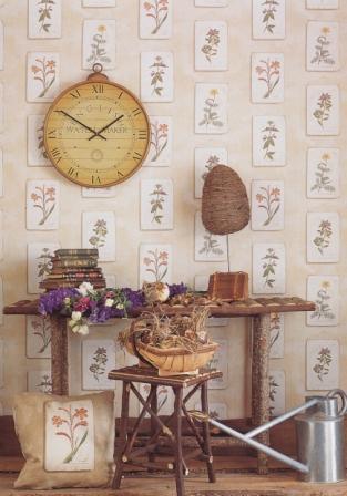 Lewis & Wood wallpaper for a Gardener's Studio