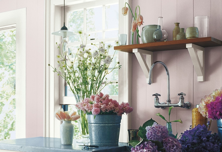 Pretty Florals for a gardener's studio