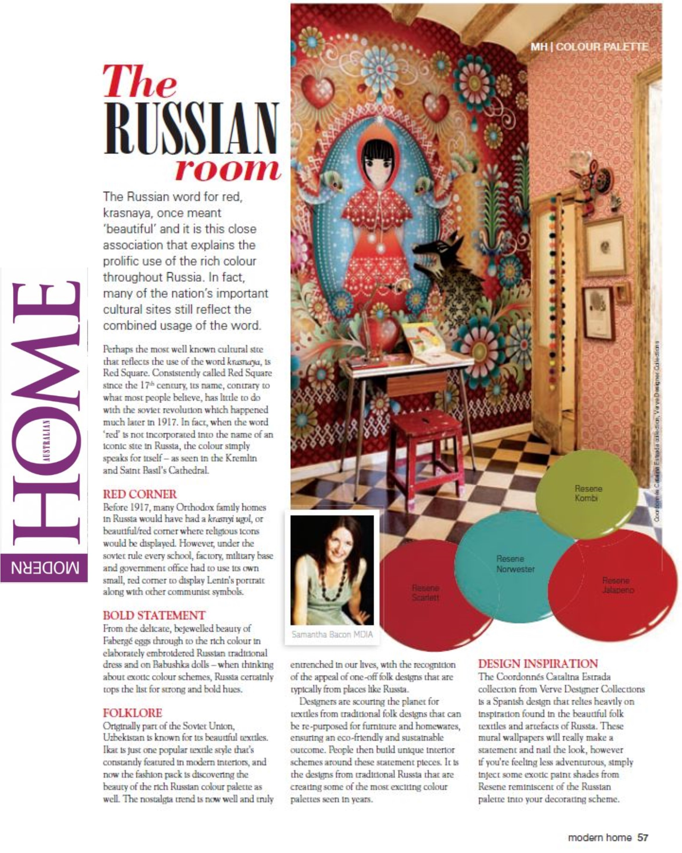 How to decorate a room with a Russian influence