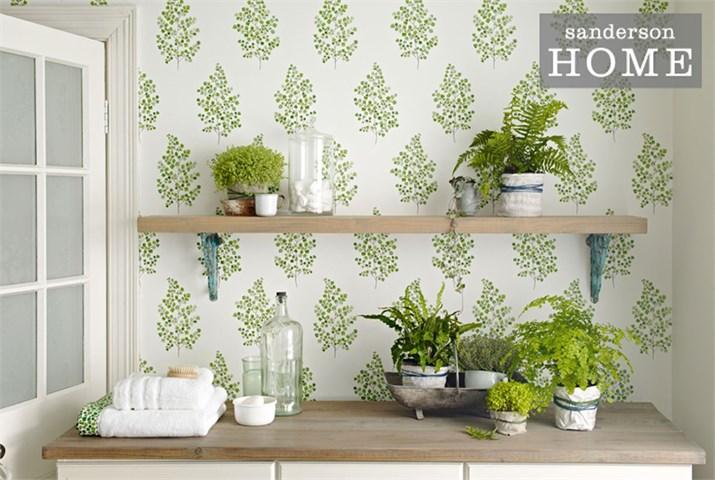 Sanderson Fern Wallpaper for gardener's studio