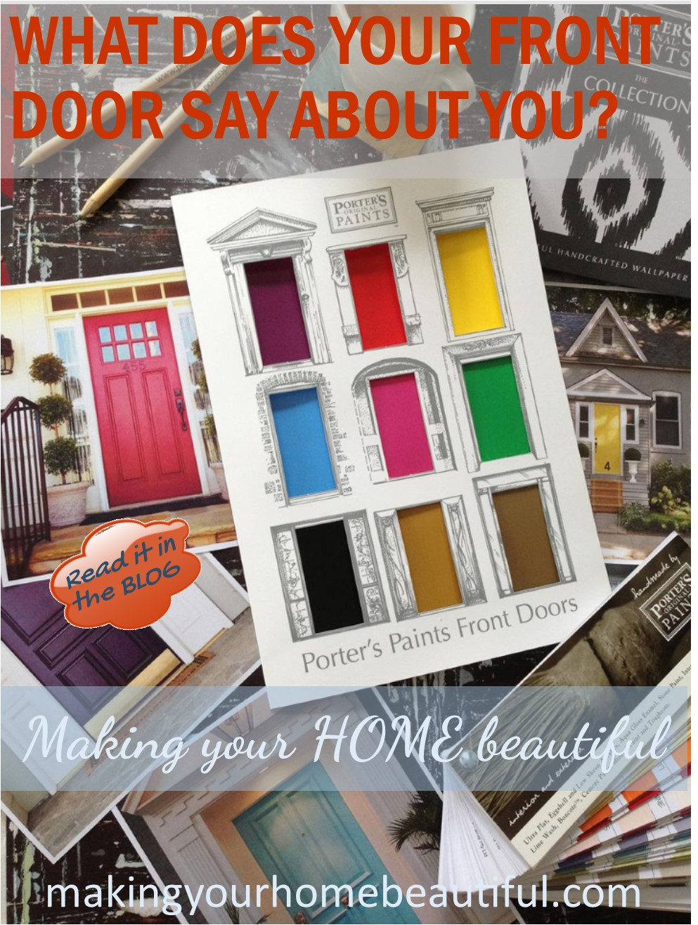 Colourful front doors, what they say about you