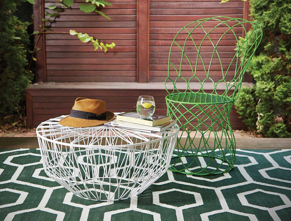 How to style an outdoor room