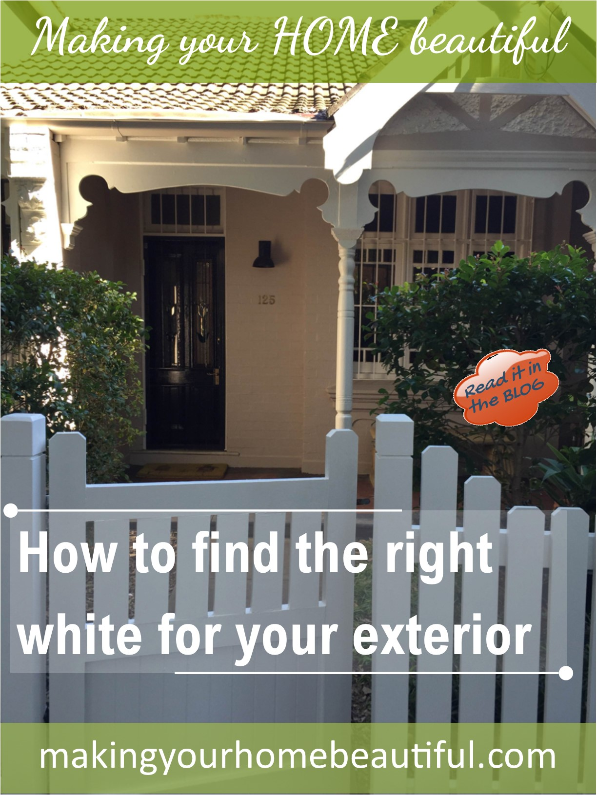 How to find the right white for your exterior