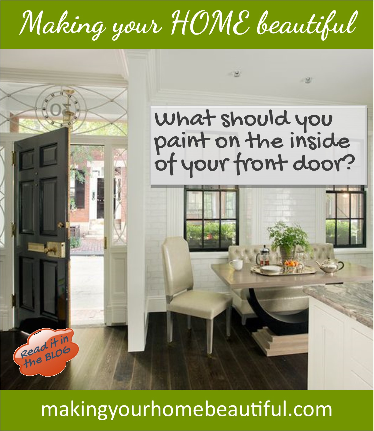 What should you paint on the inside of your front door?