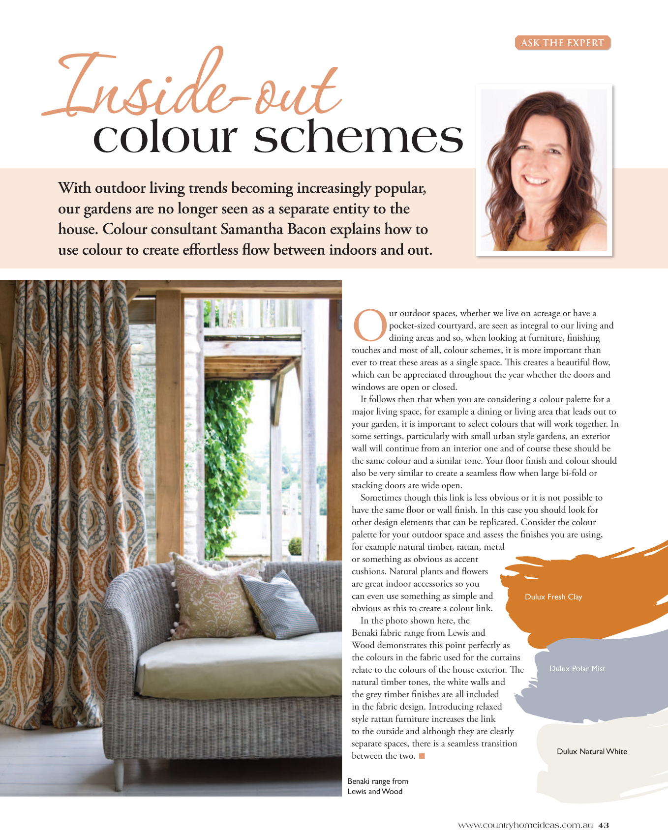 Country Home Ideas Magazine - Inside-out Colour Schemes