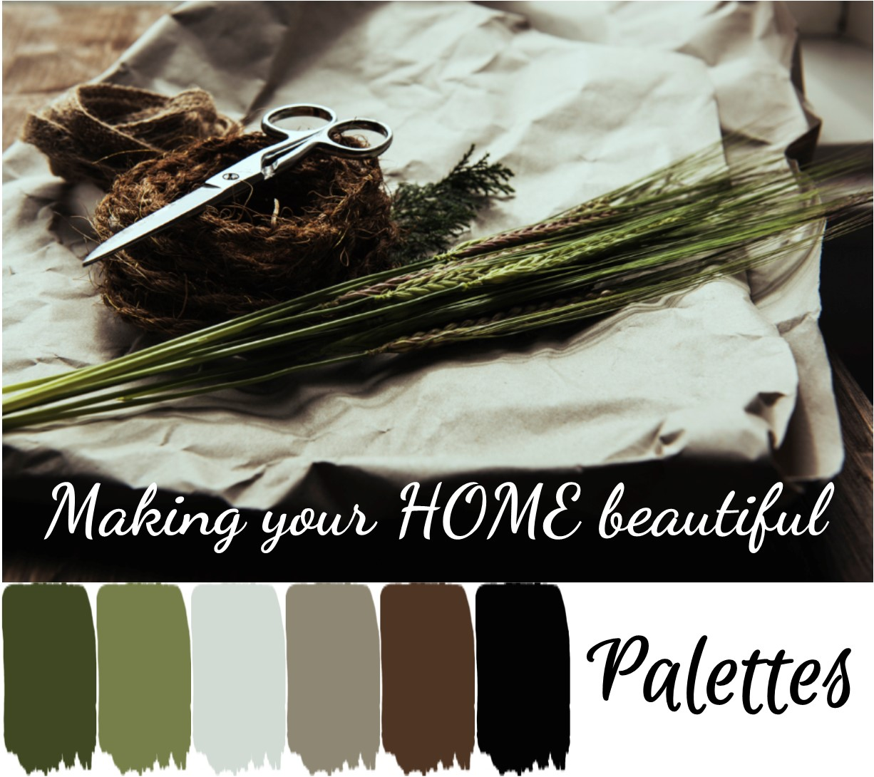 Beautiful interior decorating schemes can be put together using a natural colour palette