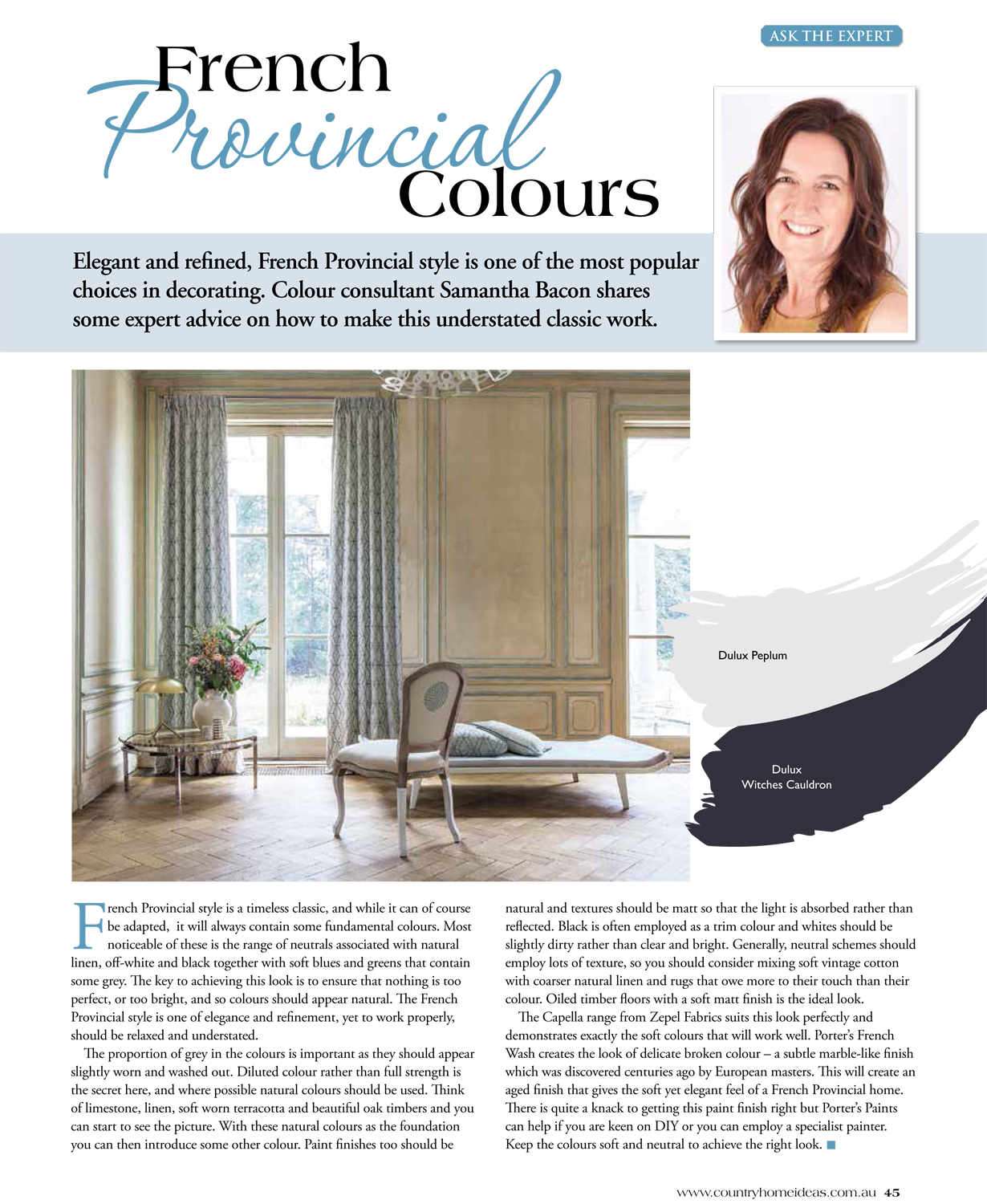 Country Home Ideas magazine - French Provincial Colours