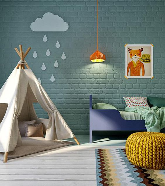 A happy colour palette for a child's bedroom