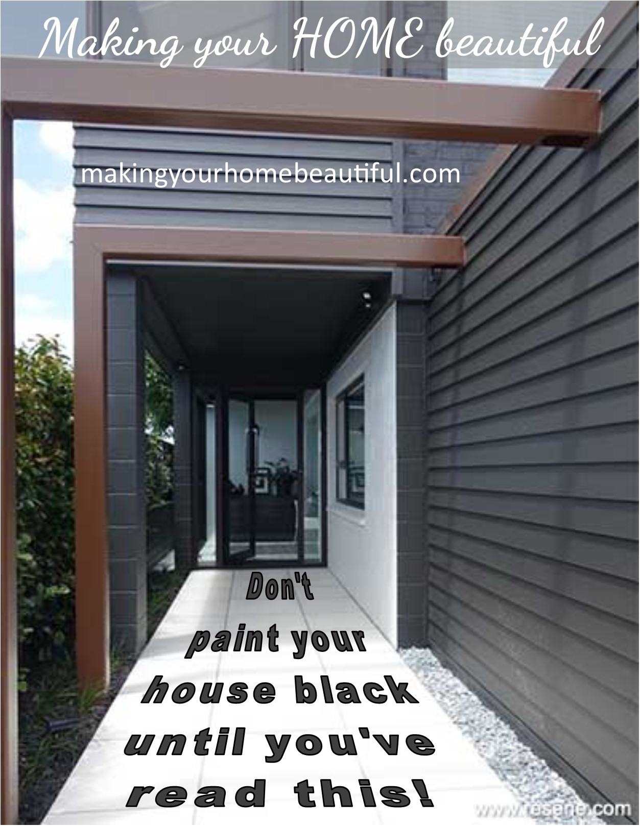 Black weatherboard house