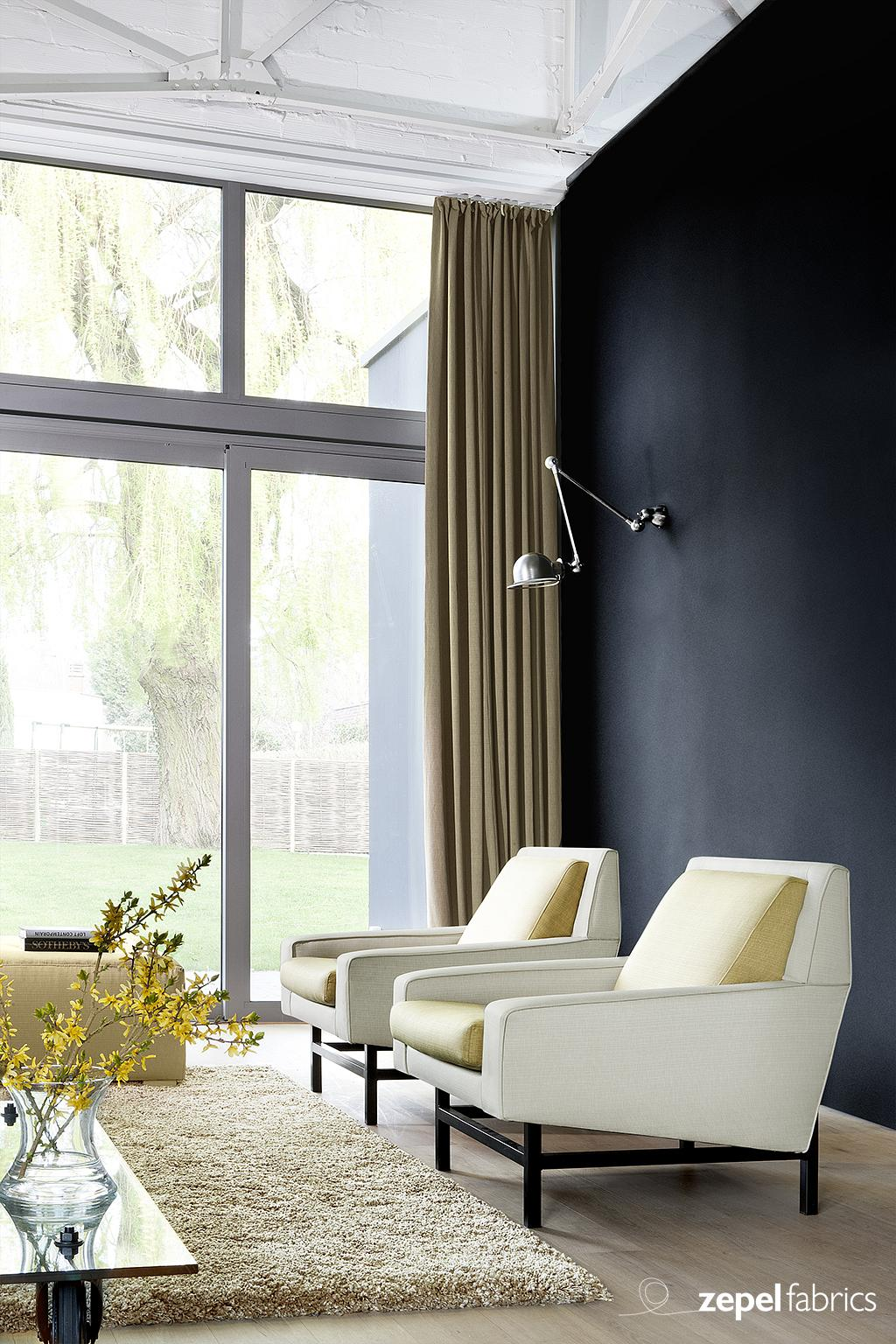 How to finish a room with sheer curtains