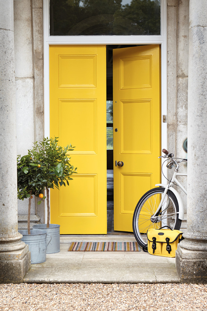 Colourful front doors what they say about you making for Front door yellow paint