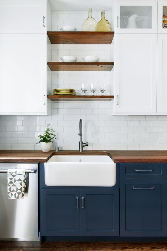 Have you considered using blue for your kitchen cabinetry ...