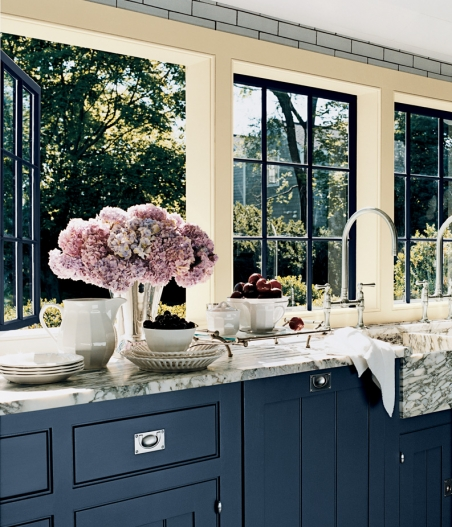 Have You Considered Using Blue For Your Kitchen Cabinetry Image Ralph Lauren
