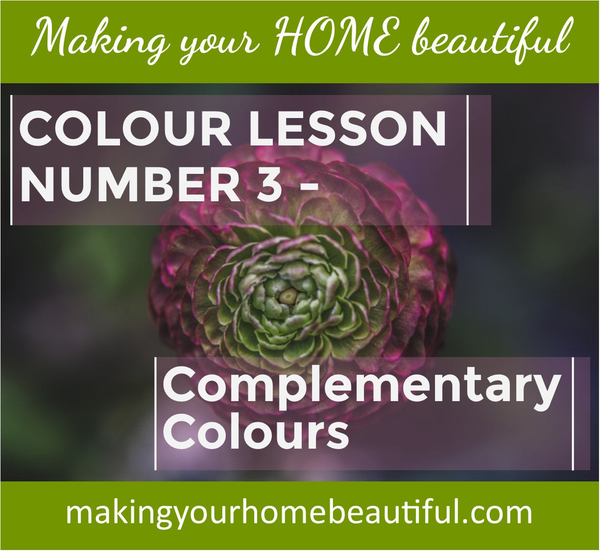 Complementary Colour Schemes - colour lesson 3