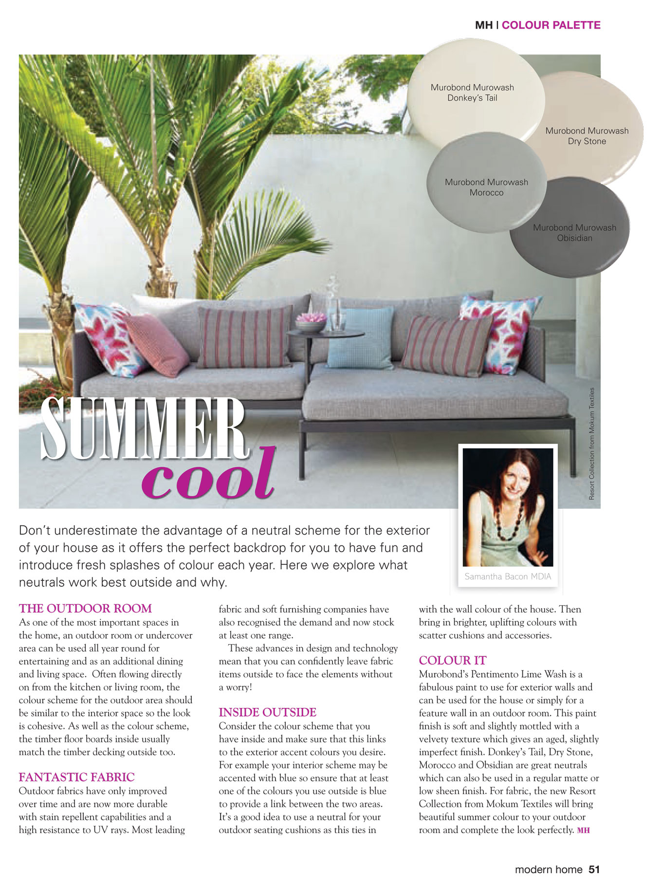 Modern Home Magazine, Summer Cool