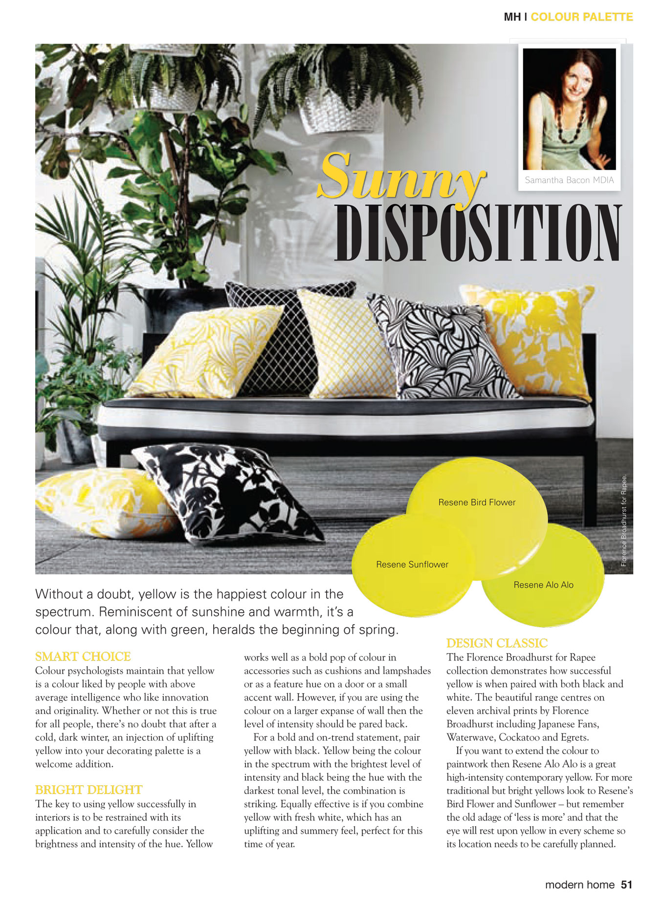 Modern Home Magazine - inspiration for using beautiful yellow