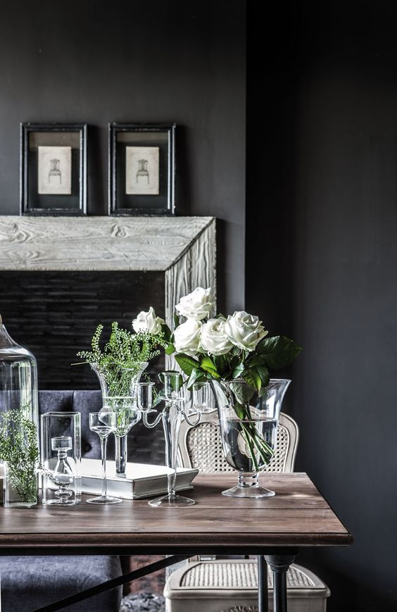 Monochromatic colour schemes, how to use black and white