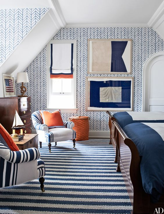 Let me show you how to use Navy Blue and White