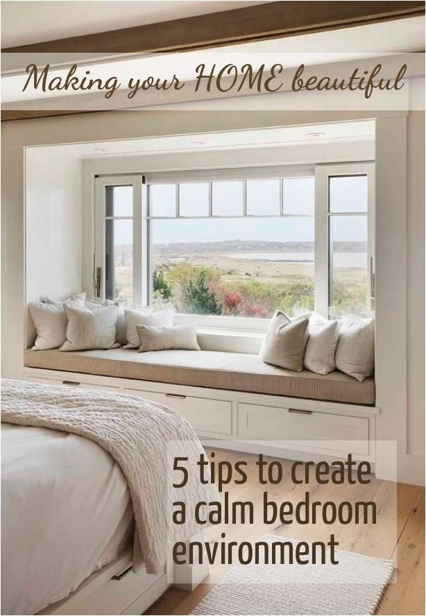 5 tips to create a calm bedroom environment