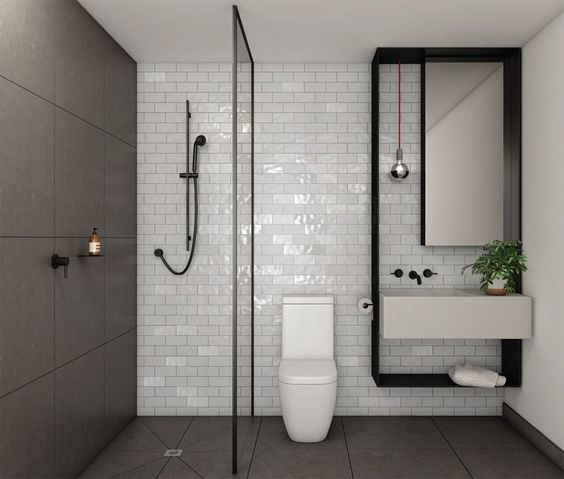 How to introduce black into a bathroom