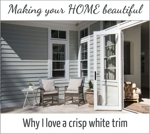 Why I love a crisp white trim