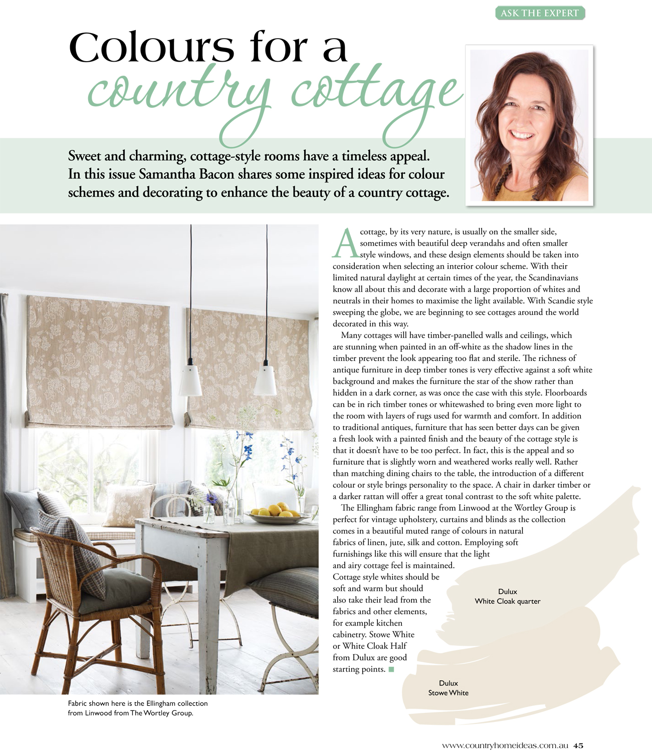 Colours for a Country Cottage